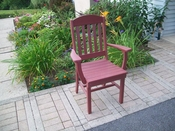 A & L Furniture - Classic Dining Chair with Arms - 4110 - Cherry Poly