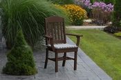 A & L Furniture - Classic Dining Chair with Arms - 4110 - Tudor Brown Poly