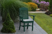 A & L Furniture - Classic Dining Chair with Arms - 4110 - Turf Green Poly