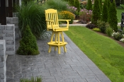A & L Furniture - Classic Swivel Bar Chair with Arms - 4120 - Lemon Yellow Poly