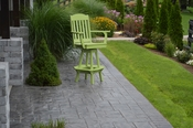 A & L Furniture - Classic Swivel Bar Chair with Arms - 4120 - Tropical Lime Green Poly