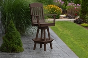 A & L Furniture - Classic Swivel Bar Chair with Arms - 4120 - Tudor Brown Poly