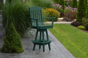 A & L Furniture - Classic Swivel Bar Chair with Arms - 4120 - Turf Green Poly