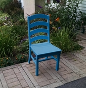 A & L Furniture - Ladderback Dining Chair - 4103 - Blue Poly