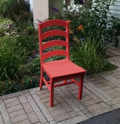 A & L Furniture - Ladderback Dining Chair - 4103 - Bright Red Poly