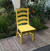A & L Furniture - Ladderback Dining Chair - 4103 - Lemon Yellow Poly