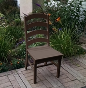 A & L Furniture - Ladderback Dining Chair - 4103 - Tudor Brown Poly