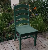 A & L Furniture - Ladderback Dining Chair - 4103 - Turf Green Poly