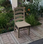 A & L Furniture - Ladderback Dining Chair - 4103 - Weathered Wood Poly