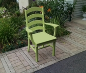 A & L Furniture - Ladderback Dining Chair with Arms - 4113 - Tropical Lime Green Poly