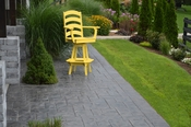A & L Furniture - Ladderback Swivel Bar Chair with Arms - 4123 - Lemon Yellow Poly