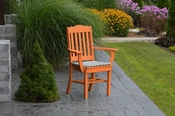 A & L Furniture - Royal Dining Chair with Arms - 4112 - Bright Orange Poly