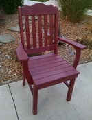 A & L Furniture - Royal Dining Chair with Arms - 4112 - Cherry Poly