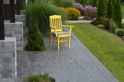 A & L Furniture - Royal Dining Chair with Arms - 4112 - Lemon Yellow Poly