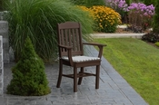 A & L Furniture - Royal Dining Chair with Arms - 4112 - Tudor Brown Poly