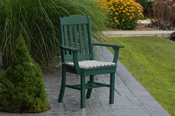 A & L Furniture - Royal Dining Chair with Arms - 4112 - Turf Green Poly