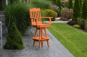 A & L Furniture - Royal Swivel Bar Chair with Arms - 4122 - Bright Orange Poly