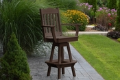 A & L Furniture - Royal Swivel Bar Chair with Arms - 4122 - Tudor Brown Poly