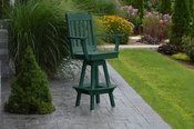 A & L Furniture - Royal Swivel Bar Chair with Arms - 4122 - Turf Green Poly