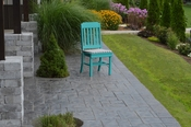 A & L Furniture - Traditional Dining Chair - 4101 - Aruba Blue Poly