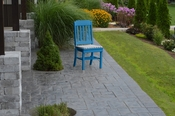 A & L Furniture - Traditional Dining Chair - 4101 - Blue Poly
