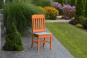 A & L Furniture - Traditional Dining Chair - 4101 - Bright Orange Poly