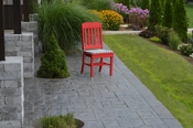 A & L Furniture - Traditional Dining Chair - 4101 - Bright Red Poly