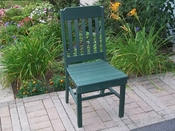 A & L Furniture - Traditional Dining Chair - 4101 - Turf Green Poly
