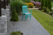 A & L Furniture - Traditional Dining Chair with Arms - 4111 - Aruba Blue Poly