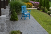 A & L Furniture - Traditional Dining Chair with Arms - 4111 - Blue Poly