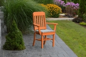 A & L Furniture - Traditional Dining Chair with Arms - 4111 - Bright Orange Poly