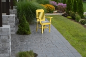 A & L Furniture - Traditional Dining Chair with Arms - 4111 - Lemon Yellow Poly