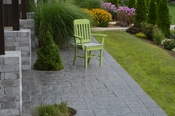 A & L Furniture - Traditional Dining Chair with Arms - 4111 - Tropical Lime Green Poly