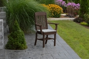 A & L Furniture - Traditional Dining Chair with Arms - 4111 - Tudor Brown Poly