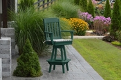 A & L Furniture - Traditional Swivel Bar Chair with Arms - 4121 - Turf Green Poly