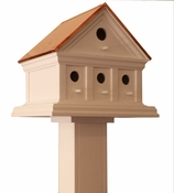 American Woodworking Company Lincoln Birdhouse with Blue Verde Copper Roof - 02121