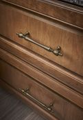 "Top Knobs - Appliance Collection - Somerset Finial Appliance Pull 12"" (c-c) - Brushed Satin Nickel - M819-12"