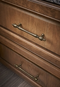 "Top Knobs - Appliance Collection - Somerset Finial Appliance Pull 12"" (c-c) - Patina Rouge - M824-12"