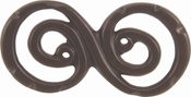 Atlas Homewares - 103-O - D Scroll Double Knob 2 3/4 Inch - Aged Bronze