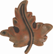 Atlas Homewares - 113-R - D Oak Leaf Knob 1 3/4 Inch - Rust