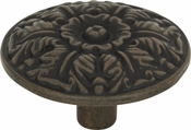 Atlas Homewares - 138-R - Hammered Medallion Knob 1 1/2 Inch - Rust