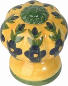 Atlas Homewares - 1D100 - D Fluted Flowers Knob 1 1/2 Inch - Ceramic