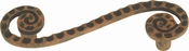Atlas Homewares - 2102-R - D Scroll Pull 3 Inch (c-c) - Rust