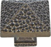 Atlas Homewares - 2237-BB - Craftsman Square Knob 1 1/4 Inch - Burnished Bronze