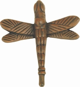 Atlas Homewares - 2238-R - D Dragonfly Knob 2 1/4 Inch - Rust