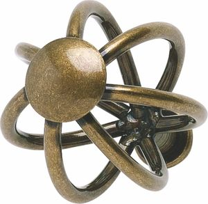 Atlas Homewares - 30065-BB - D Twisted Wire Knob 1 1/2 Inch - Burnished Bronze