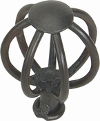 Atlas Homewares - 30065-I - D Twisted Wire Knob 1 1/2 Inch - Iron