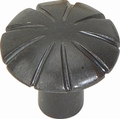 Atlas Homewares - 30070-I - D Fluted Knob 1 1/2 Inch - Iron
