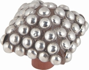 Atlas Homewares - 3100 - D Square Beaded Knob 2 Inch - Silver
