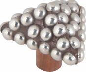 Atlas Homewares - 3102 - D Triangle Beaded Knob 1 3/4 Inch - Silver